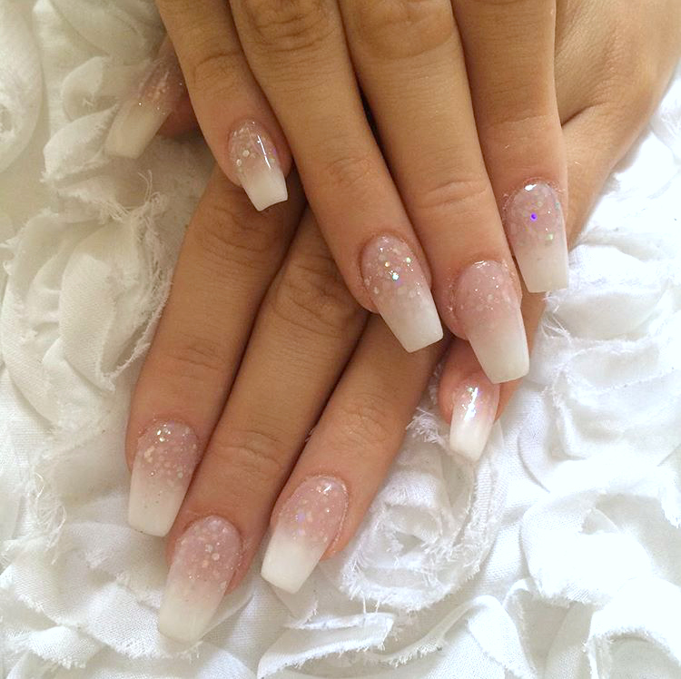 Acrylic Nails For Prom: Hannah's School Prom