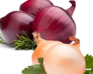 onion white and red