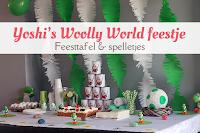 Yoshi's Woolly World feestje - feesttafel en spelletjes