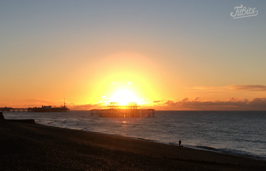 FitBits | Brighton sunrise behind West Pier