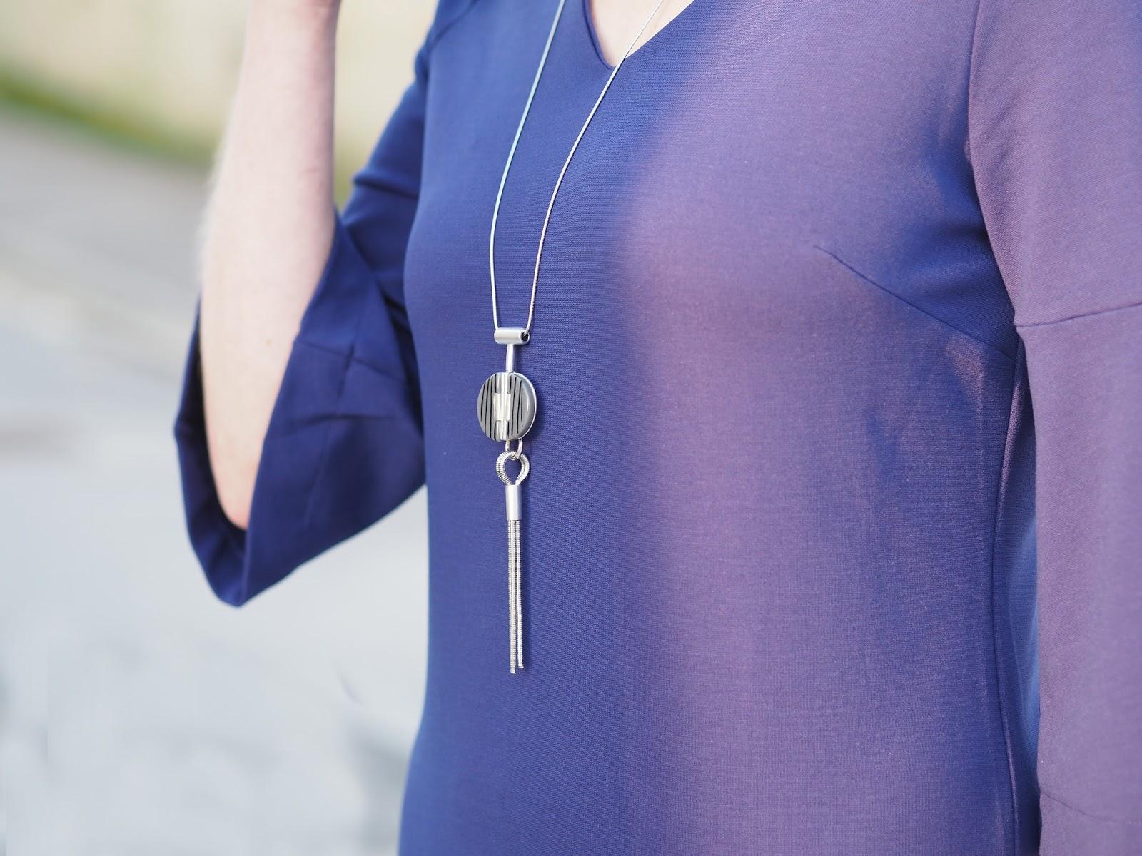Finery London iris v neck jersey dress over 40