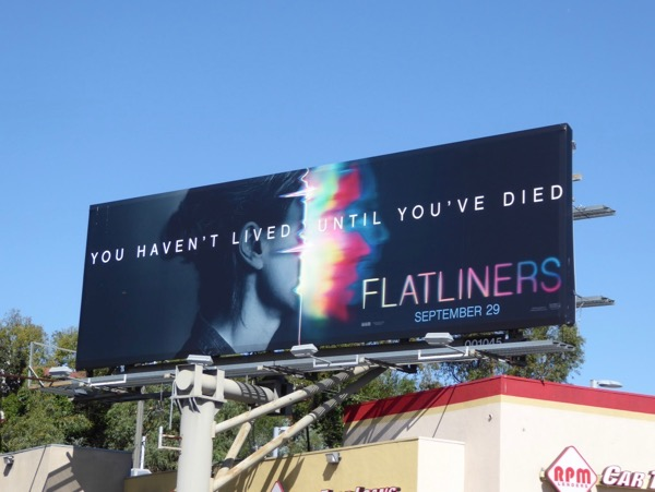Flatliners movie remake billboard
