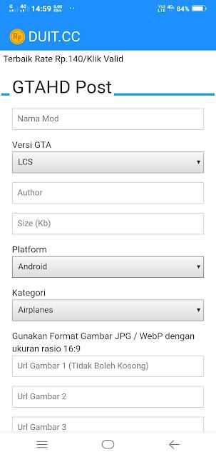 Bisa memposting di situs GTA HD