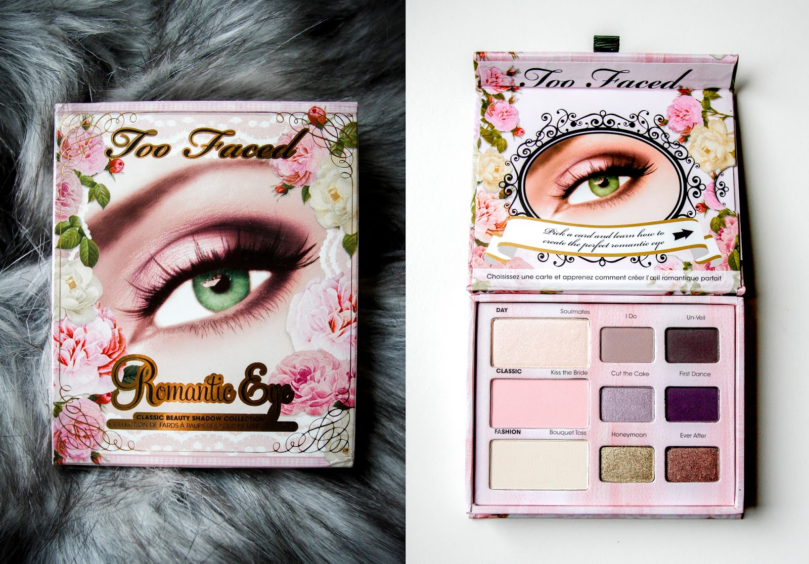 Romantic Eye palette cover shot and opened