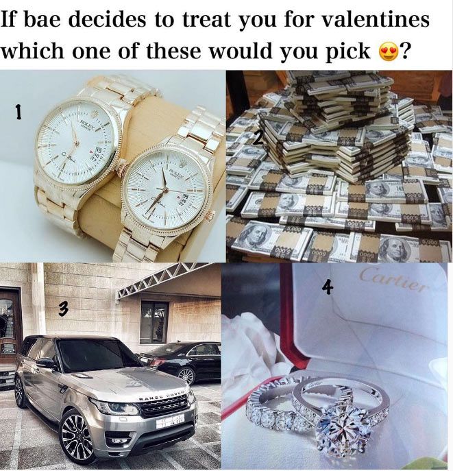 Dearies, which of these gifts do you want from bae this Valentine?