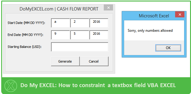 Do My Excel Blog: EXCEL VBA: How to only accept number