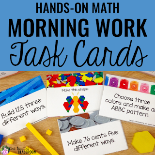 Hands-On Math Morning Work Task Cards