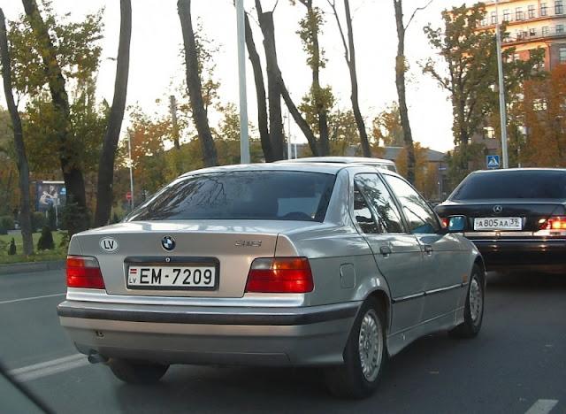 Автомобильные номерные знаки Латвии