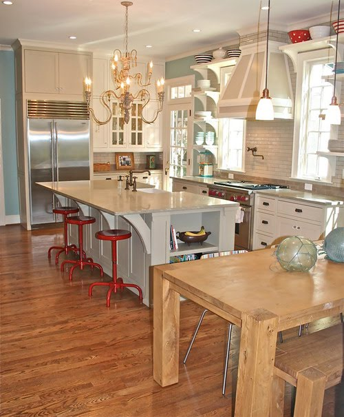 Red Turquoise Kitchen: Dwelling By Design: Turquoise And Red Kitchen