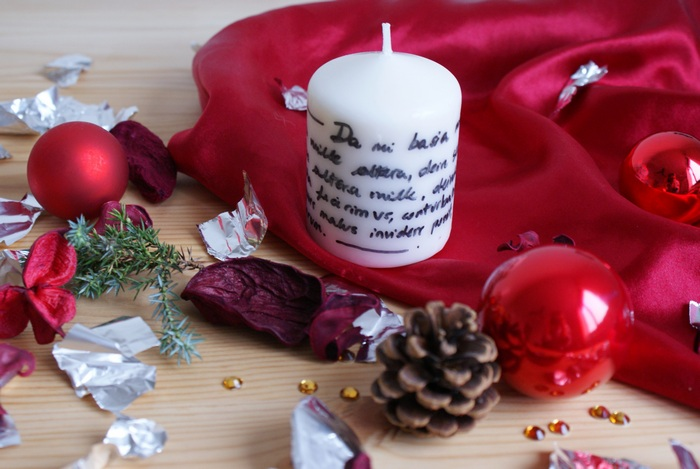 diy written candle francinesplace