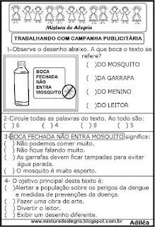 Campanha publicitária sobre dengue
