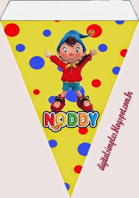 Banderines de Noddy  para imprimir gratis.