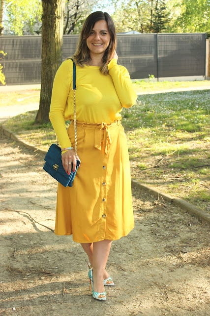 look monochrome jaune, lemon mood, les petites bulles de ma vie