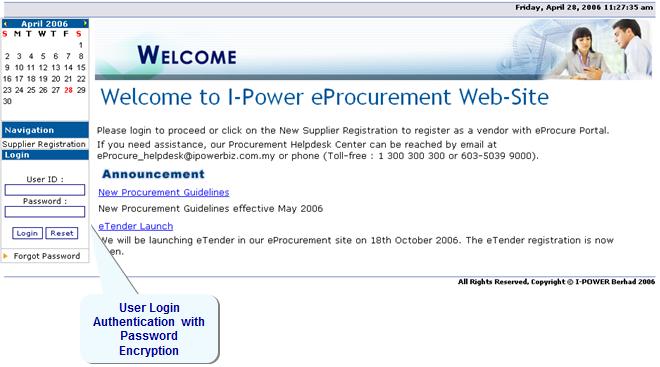 Snapshots of MIS750: e-Procurement