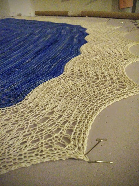 Hand knit prayer shawl