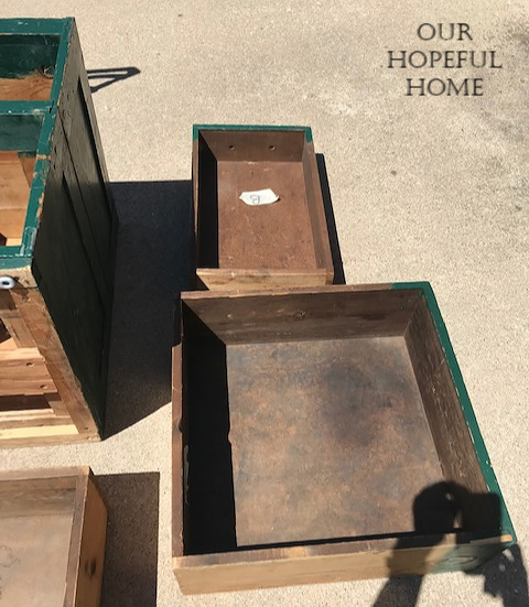 musty vintage seed chest drawers