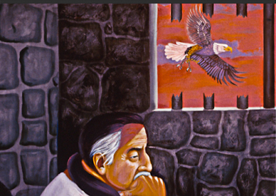 Painting by Leonard Peltier from New Observations magazine interview