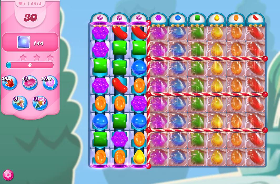Candy Crush Saga level 9518