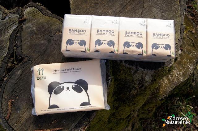 ZUZii - Chusteczki higieniczne z balsamem oraz chusteczki bambusowe kieszonkowe