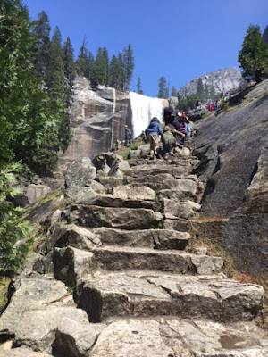 icy steps mist trail vernal fall yosemite