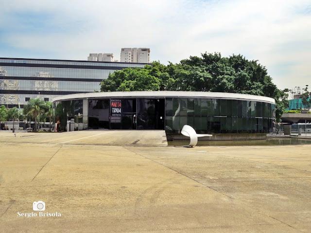 Vista ampla da Galeria Marta Traba - Memorial da América Latina - São Paulo