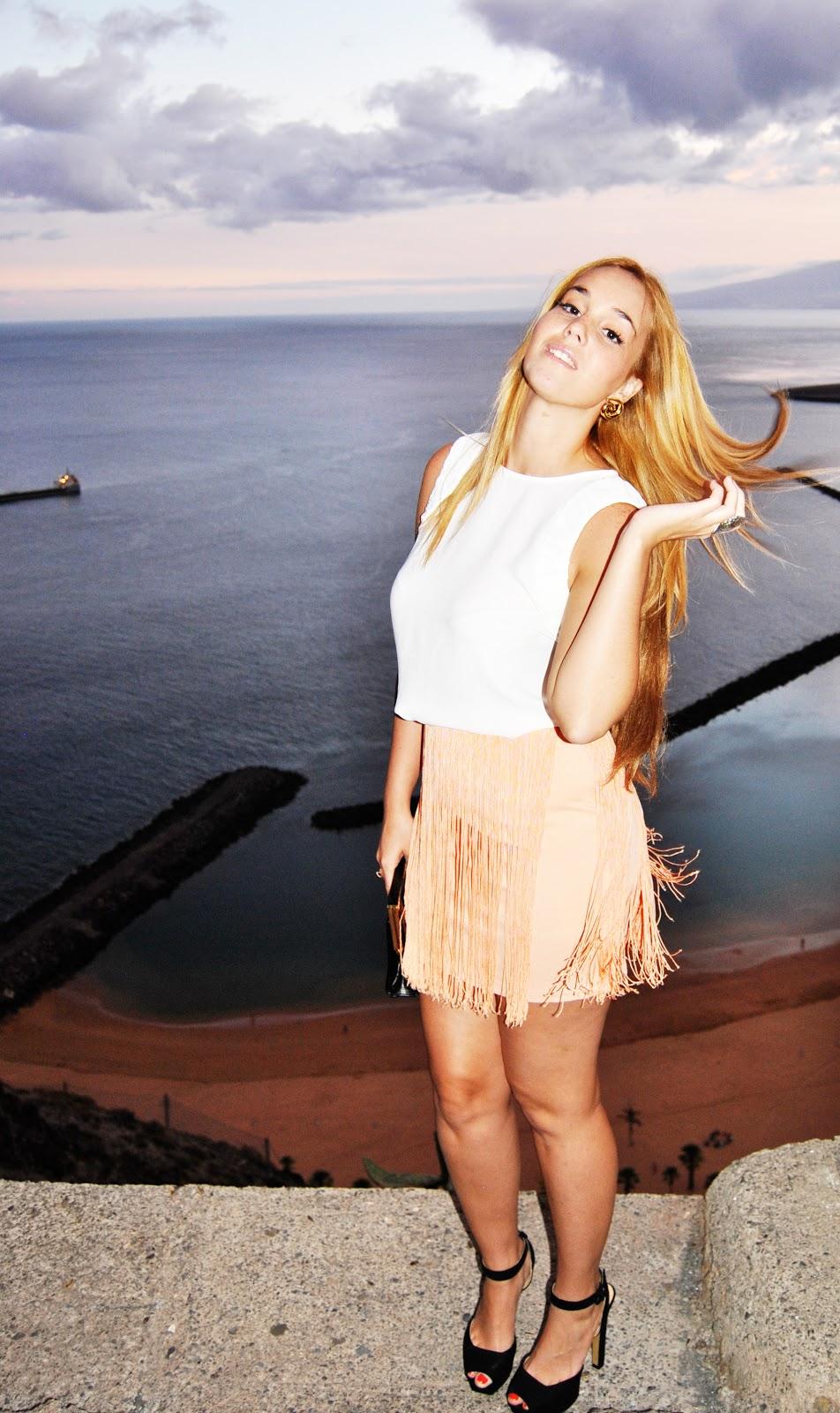 nery hdez, falda de flecos, fringes skirt, blouse skirt