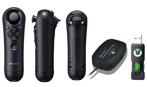 Sony PS3 Navigation controller with wireless adapter and Titan One adapter for the brains of the kit.