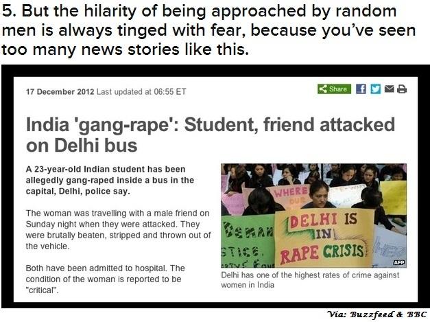 Korean Gender Café 한국 젠더 카페: Buzzfeed! Fearing rape is not a