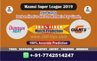 Who will win Today MSL T20 2019, 20th Match Nelson vs Durban - Cricfrog