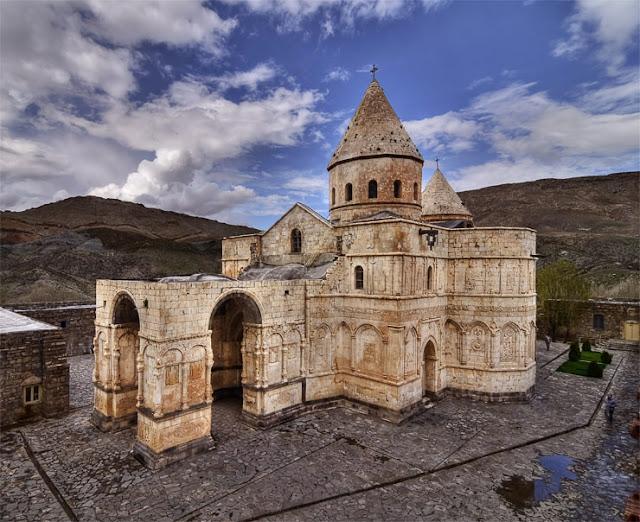 The stone made Saint Stepanos. Jolfa-Orumieh-Iran