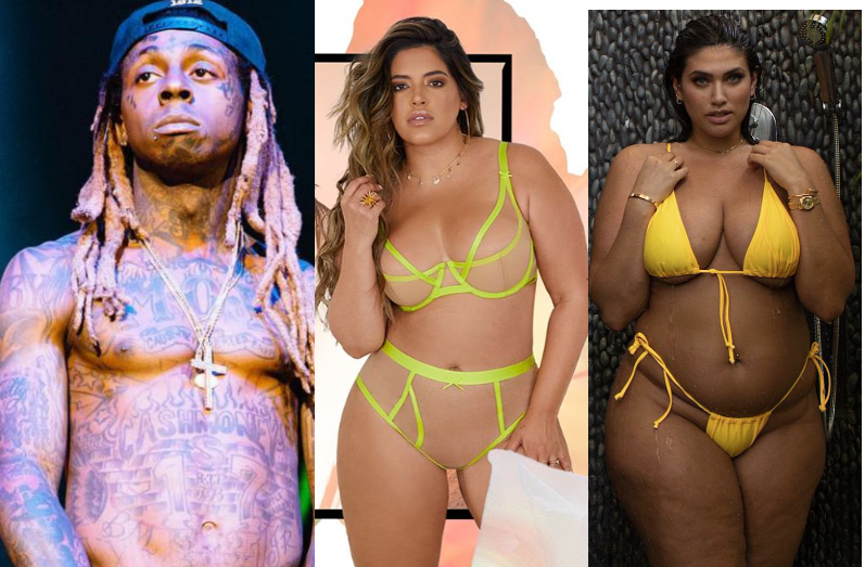 Rapper, Lil Wayne Moves On With Another Plus-Size Model Two Months After Calling Off His Engagement To Model La'Tecia Thomas (photos)
