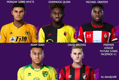 PES 2020 Faces Premier League Future Stars Pack  by Davidjm08