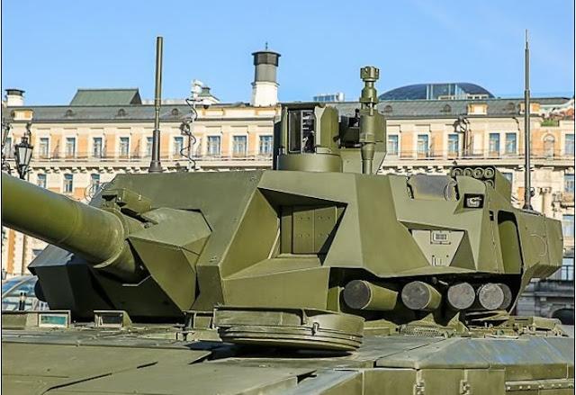 Tank Tempur Tercanggih Armata Rusia Dilengkapi Dengan Detektor UV