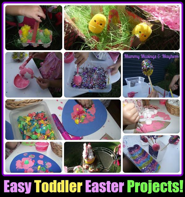 Toddler fine motor easter craft