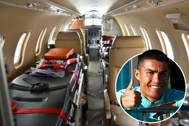 Ronaldo Flown Out Of Portugal In Air-Ambulance Days After Testing Positive For Coronavirus