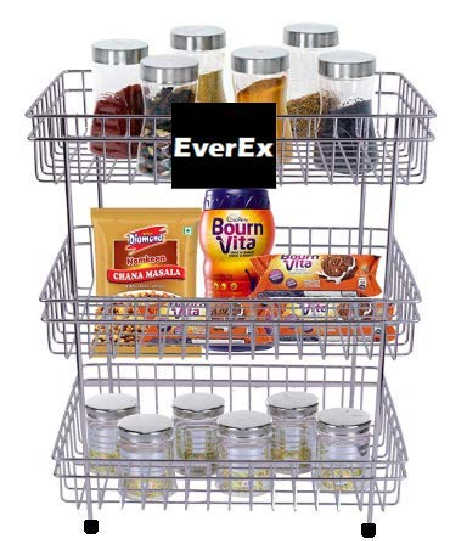EverEx Stainless Steel Fruits Vegetable Kitchen Trolley
