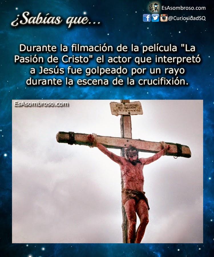 """Durante la filmación de la película """"La Pasión de Cristo"""" al actor principal lo impactó un rayo"""