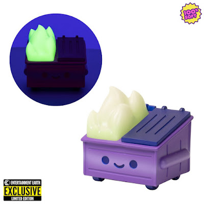 New York Comic Con 2020 Exclusive Dumpster Fire Evil Trash Mistress Edition Glow in the Dark Vinyl Figure by 100% Soft x Entertainment Earth