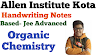 Kota Institute Handwriting Notes Organic chemistry part- 1 pdf here