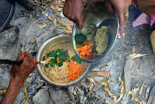 Making lunch for the family in Ethiopia