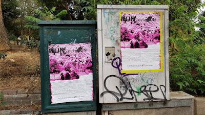 Τρόμος στο Πεδίον του Άρεως! Κόλλησαν αφίσες και απειλούν κατοίκους και φοιτητές του ΟΠΑ! «Θα περνάτε μόνο τρέχοντας» (ΦΩΤΟ)