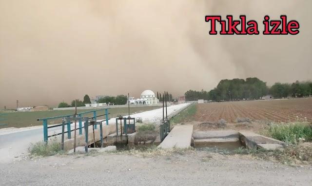 Şanlıurfa'da toz bulutu nedeniyle göz gözü görmedi