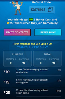 referral code for gamegully