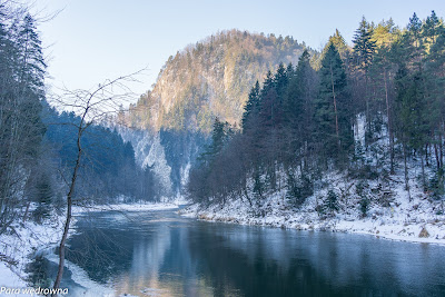 Początek przełomu Dunajca w Szczawnicy
