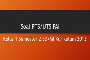 Soal PTS/UTS PAI Kelas 1 Semester 2 SD/MI Kurikulum 2013 TP 2019/2020