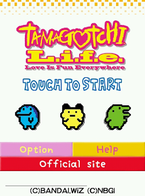 Tamagotchi L.I.F.E. Title Screen