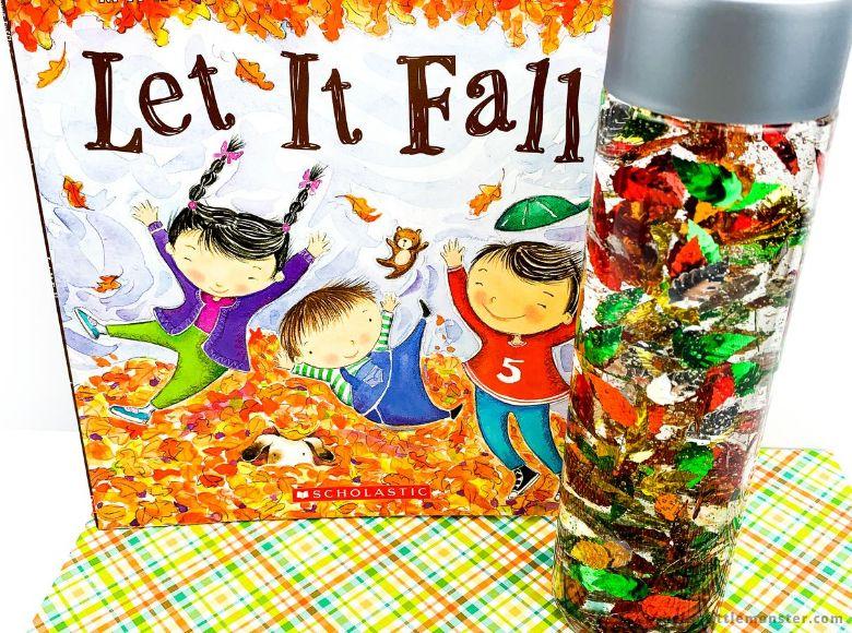 fall leaves sensory bottle activity