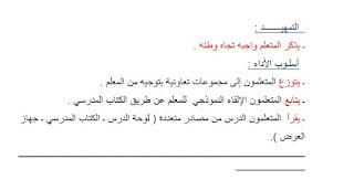 تحضير موضوع وطني للصف السابع في اللغة العربية الفصل الثاني 2017