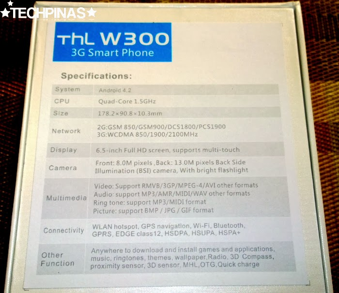 THL W300, THL Phablet, THL Android Smartphones