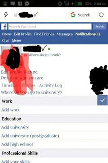 Tick Name Facebook Account